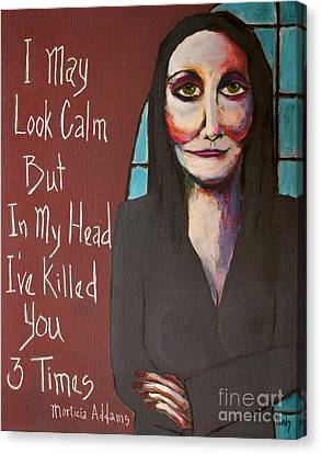 Goulish Canvas Print - Morticia by David Hinds