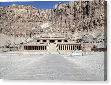 Mortuary Temple Of Hatshepsut - Egypt Canvas Print by Joana Kruse