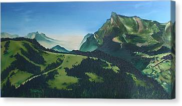 Morzine Canvas Print by Mira Cooke