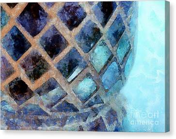 Mosaic Blues Canvas Print by Krissy Katsimbras