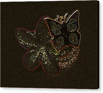 Mosaic Butterfly Canvas Print by Lovina Wright