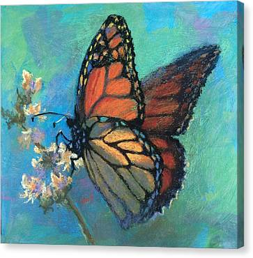 Canvas Print - Mosaic Monarch by Donna Shortt