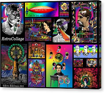 Mosaic Of Retrocollage I Canvas Print by Eric Edelman