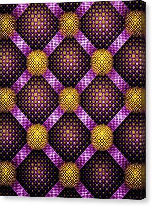 Mosaic - Purple And Yellow Canvas Print
