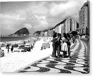 Mosaic Sidewalk, Rio De Janeiro Canvas Print by Everett