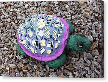 Canvas Print featuring the ceramic art Mosaic Turtle by Jamie Frier