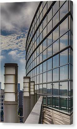 Canvas Print featuring the photograph Moscone West Balcony by Darcy Michaelchuk