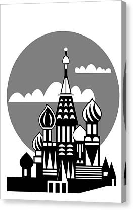 Moscow - Russian Orthodox Church Canvas Print by Michal Boubin