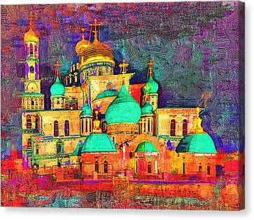 Moscow Church At Night Canvas Print