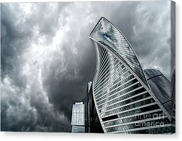 Moscow City And Storm Canvas Print