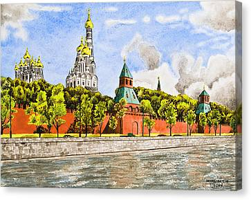 Moscow River Canvas Print by Svetlana Sewell