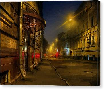 Moscow Steampunk Sketch Canvas Print by Alexey Kljatov