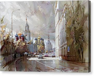 Moscow. Varvarka Street. Canvas Print by Ramil Gappasov