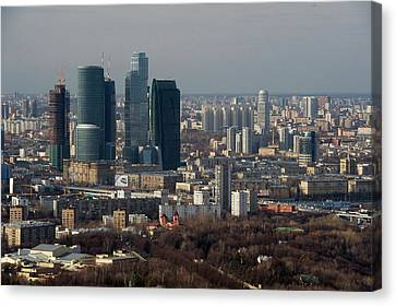 Moscow View Canvas Print by Vladimir Zakharov