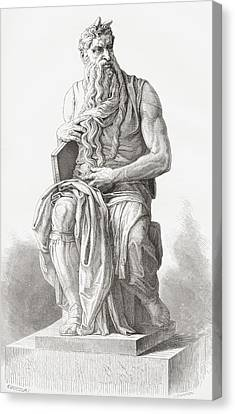 Moses, C. 1513 Canvas Print by Vintage Design Pics