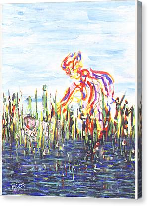Moses In The Rushes Canvas Print