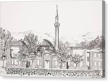 Mosque In Sarajevo Careva Dzamija Canvas Print by Ramo Sabanovic