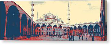 Mosque In Turkey Canvas Print by Celestial Images