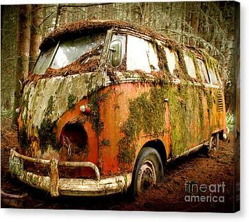 Moss Covered 23 Window Bus Canvas Print by Michael David Sorensen