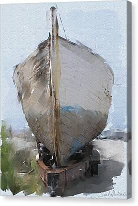 Moss Landing Boat Canvas Print by Sarah Madsen