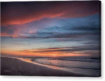 Moss Landing Sunset Canvas Print by Bill Roberts