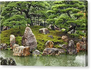 Mossy Japanese Garden Canvas Print by Carol Groenen
