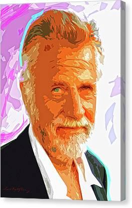 Most Interesting Man Canvas Print by David Lloyd Glover