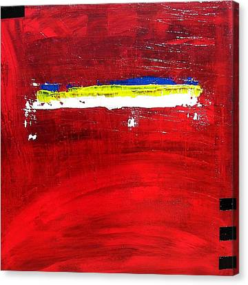 Canvas Print featuring the painting Mostly Red by Carolyn Repka