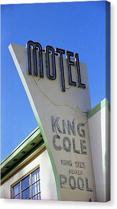 Canvas Print featuring the photograph Motel King Cole by Matthew Bamberg
