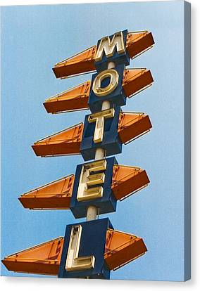 Motel Canvas Print by Matthew Bamberg