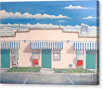 Motel Six . 1989 Canvas Print by Wingsdomain Art and Photography