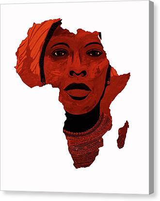 Mother Africa 2 Canvas Print by Irene Jonker