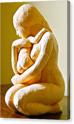 Mother And Child Canvas Print by Deborah Dendler