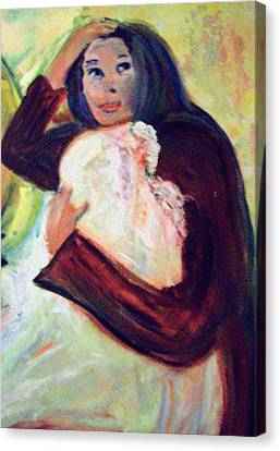 Patricia Taylor Canvas Print - Mother And Child by Patricia Taylor