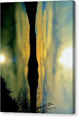Mother And Child Reflected Canvas Print