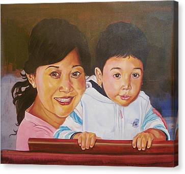 Mother And Child Canvas Print by Xafira Mendonsa