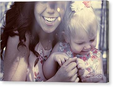 Mother And Daughter Laughing Together Outdoors Canvas Print by Jorgo Photography - Wall Art Gallery