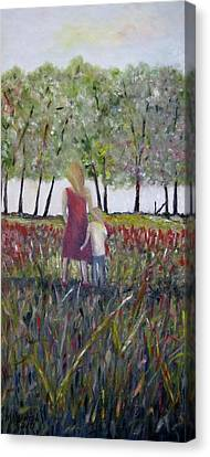 Canvas Print featuring the painting Mother And Son by Marilyn  McNish