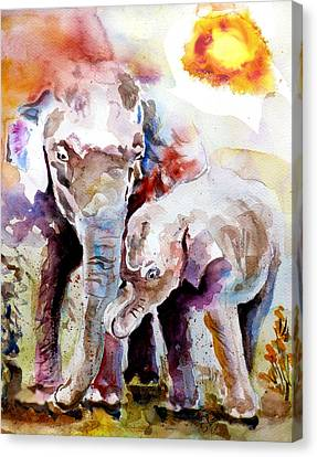 Mother And Son Canvas Print by Steven Ponsford