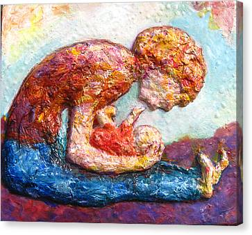 Bonding Canvas Print - Mother Bonding II by Naomi Gerrard