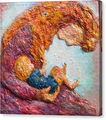 Bonding Canvas Print - Mother Bonding IIi by Naomi Gerrard
