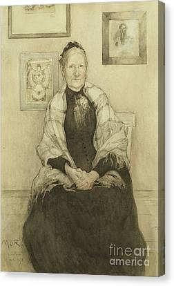 Mother Canvas Print by Carl Larsson