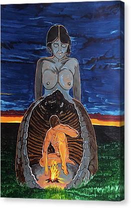Mother Cave Canvas Print by Lazaro Hurtado