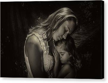 Mother Daughter Canvas Print by Kevin Cable