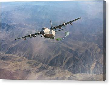 Mother Do You Think They Will Drop The Bomb Canvas Print by Peter Chilelli