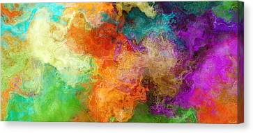 Mother Earth - Abstract Art Canvas Print by Jaison Cianelli