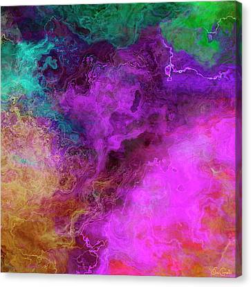 Mother Earth - Abstract Art - Triptych 3 Of 3 Canvas Print