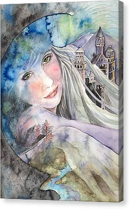 Green Fairy Canvas Print - Mother Earth by Kim Sutherland Whitton