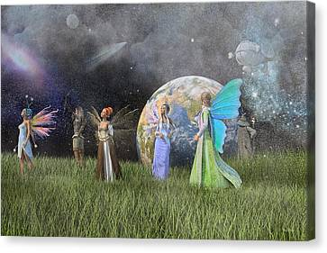 Mother Earth Series Plate1 Canvas Print by Betsy Knapp