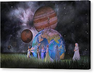 Mother Earth Series Plate2 Canvas Print by Betsy Knapp